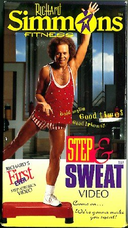 Richard Simmons Step and Sweat Video VHS Exercise Tape