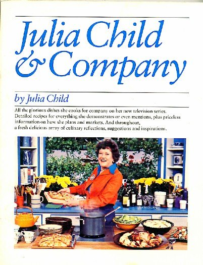 Julia Child & Company Cookbook softcover 1978 TV show companion book