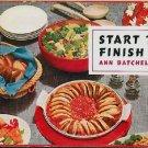Start To Finish Vintage 1954 Cookbook Ladies Home Journal Batchelder