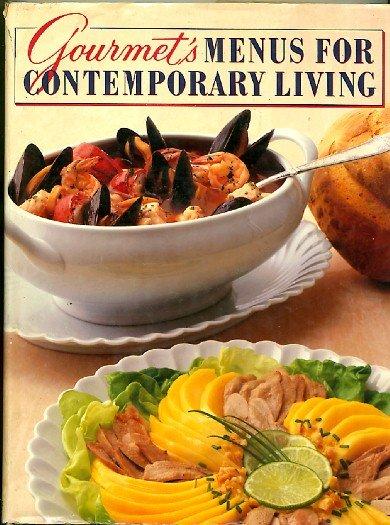 Gourmet's Menus for Contemporary Living Cookbook 1985 hc+dj