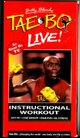 Tae-Bo Live Instructional Workout Billy Blanks Tae Bo Kickboxing VHS Exercise Video