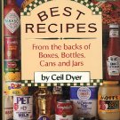 Cookbook Best Recipes from the backs of Boxes Bottles Cans and Jars, Ceil Dyer