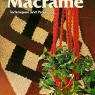 Macrame Techniques and Projects, Sunset Books, Revised Edition, 1975