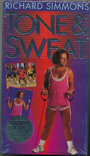 Richard Simmons Tone and Sweat Exercise Video VHS New