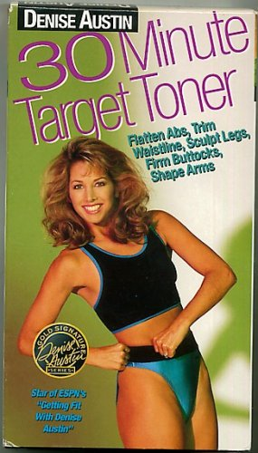 Denise Austin 30 Minute Target Toner Exercise Workout Video VHS Tape
