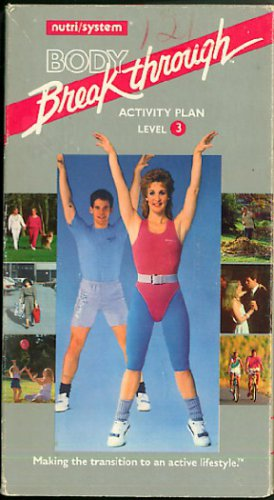 NutriSystem Body Breakthrough Activity Plan Level 3 Low Impact Aerobic Exercise Video VHS