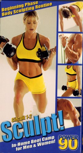 Power 90 Circuit 1-2 Sculpt! Tony Horton In Home Boot Camp Exercise Video VHS