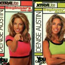 Denise Austin XtraLite Beginners 2-Video Set: Aerobics + Tone Up Exercise VHS Lot
