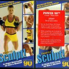 2 Video Set: Power 90 Circuit 1-2 and 3-4 Sculpt! Tony Horton Boot Camp Exercise Videos VHS New