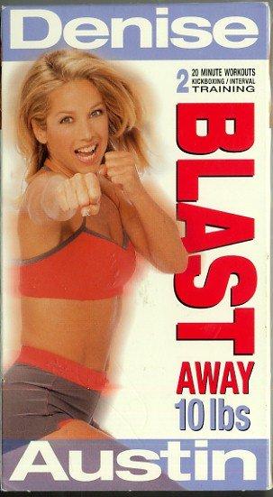 Denise Austin Blast Away 10 Lbs Kickboxing + Interval Aerobic Toning Exercise Workout Video VHS