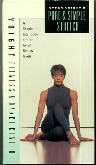 Karen Voight Pure and Simple Stretch Flexibility Relaxation Exercise Video VHS