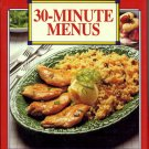 Betty Crocker 30 Minute Menus 73 Fast Easy Meals Dinner Recipe Cookbook