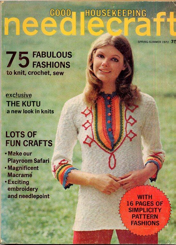 Good Housekeeping Needlecraft Spring-Summer 72 1972 Vintage Magazine Knit Crochet Sew &c