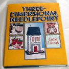 Three 3 Dimensional Needlepoint Litvak vintage plastic canvas instruction book hc+dj