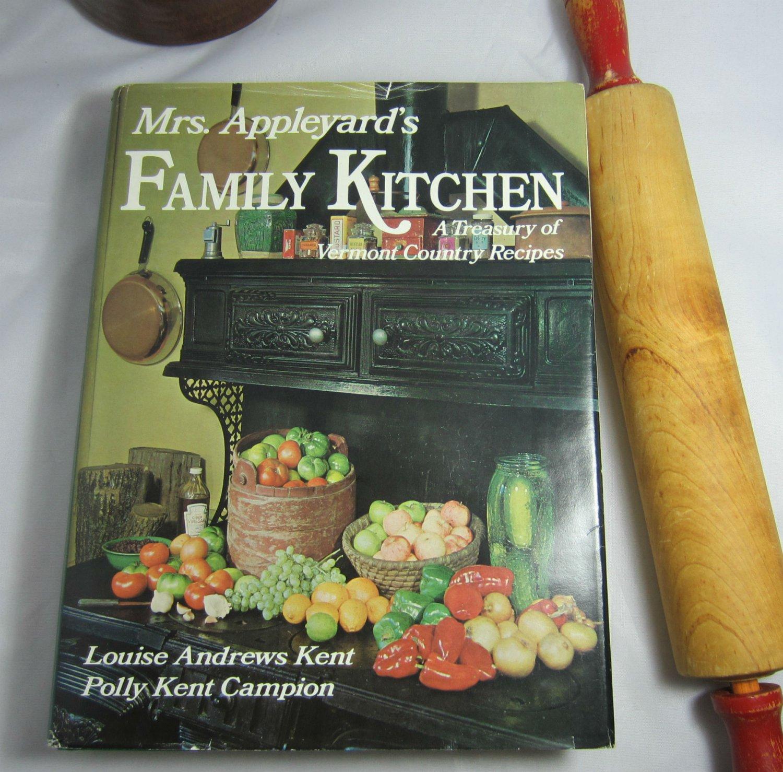 Mrs Appleyard's Family Kitchen Treasury of Vermont Recipes Cookbook hc+dj