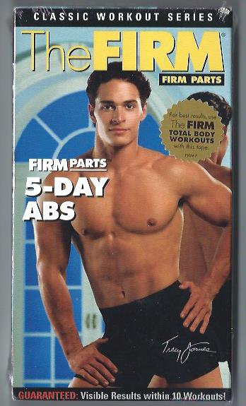 The FIRM Parts 5-Day Abs Exercise Workout VHS Video NEW