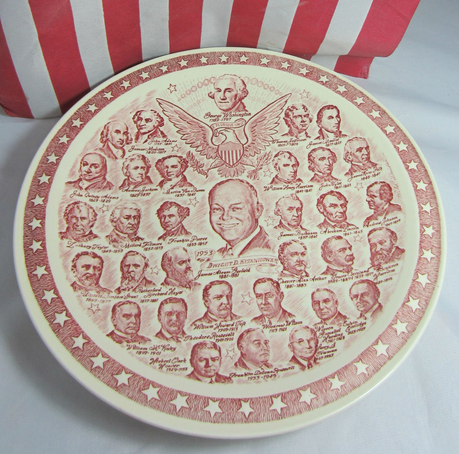 Eisenhower Plate Vintage USA Vernon Kilns Presidential Gallery No.2 Commemorative