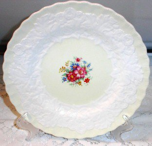 Vintage Dinner Plate Alfred Meakin Made in England Floral Embossed