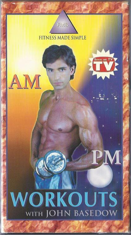 AM PM Workouts with John Basedow Fitness Made Simple Exercise Video VHS