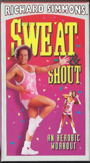 Richard Simmons Sweat and Shout Workout Video Aerobic Exercise VHS Tape Pop Dance Music