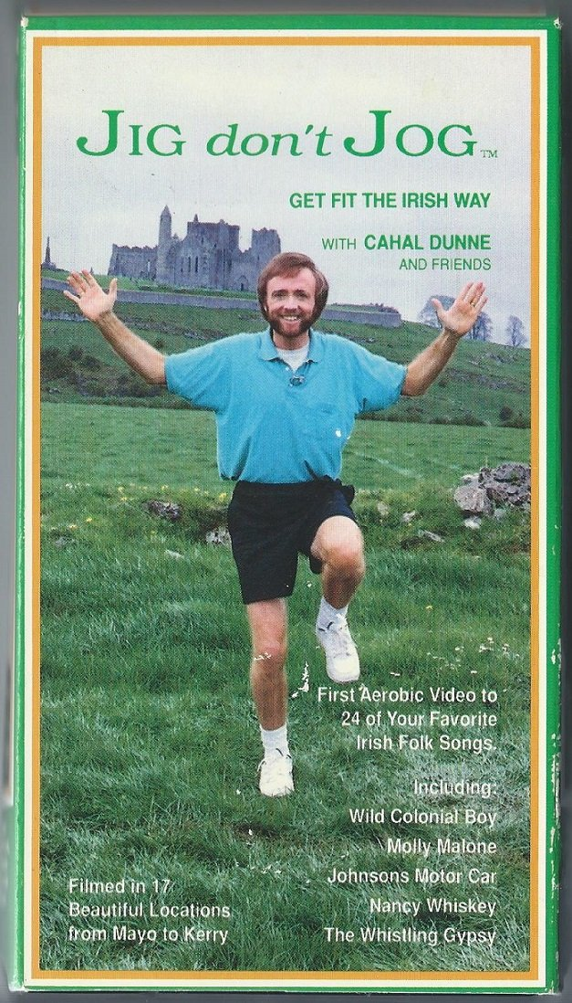 Jig Don't Jog - Get Fit the Irish Way with Cahal Dunne Aerobic Exercise Video VHS