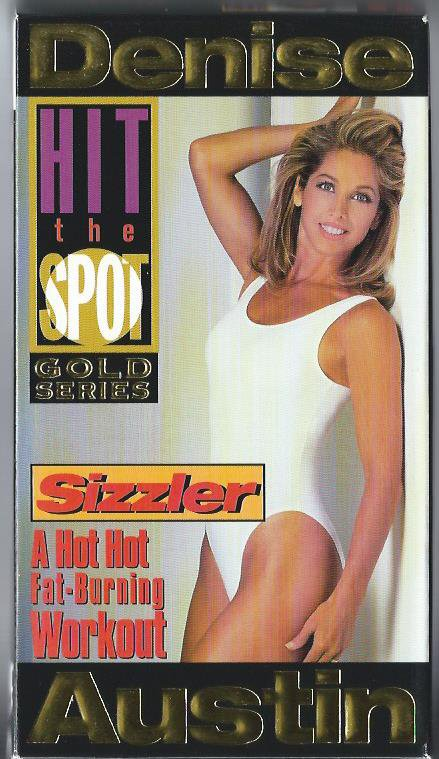 Denise Austin Sizzler Fat Burning Aerobic Exercise Workout Video VHS