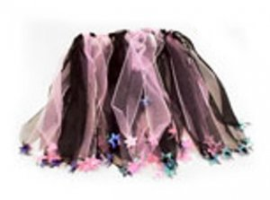 Black and pink star dress up dance skirt tutu
