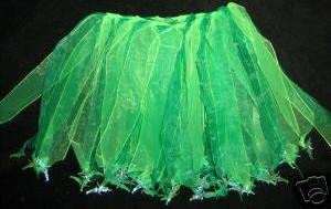 New green Tinkerbell dance dress up skirt tutu