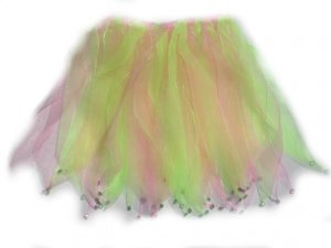 New green and pink dance dress up tutu skirt