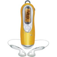 jWIN JX-M22-ICE Portable FM Digital Scan Radio with LCD Screen and Clock Function - Orange