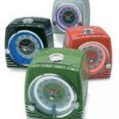 TELEMANIA Ford Thunderbird Retro Neon Alarm Clock Radio with CD Player - Pink