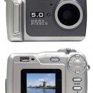 Vu Point Digital camera - point and shoot 5.0 Mpix 8 Mpix (interpolated) MMC, SD