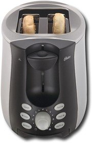Oster 2-Slice Toaster - Black/Stainless-Steel