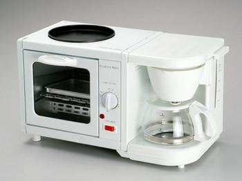 EMATIC 3 in 1 Breakfast Maker Kitchen with Coffee Kettle