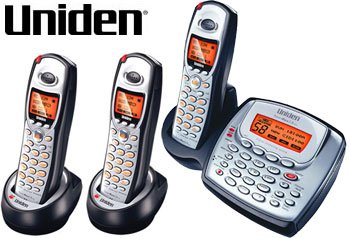 Uniden TRU8885-3HS 5.8GHz Digital Expandable System with Digital Answering System and Caller ID