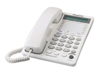 Panasonic KX TS208W - Corded phone - 2-line operation - white