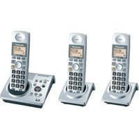 PANASONIC KX-TG1033-S DECT 6.0 EXP 3 HANDSET CORDLESS W/ ANSWERING SYSTEM