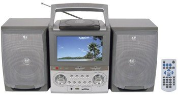"Naxa NX-429 PORTABLE DVD MICRO SYSTEM WITH 7"" TFT LCD SCREEN"