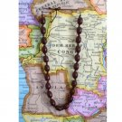 Hawaii Kukui Nut Style Necklace Boho Brown New Chunky