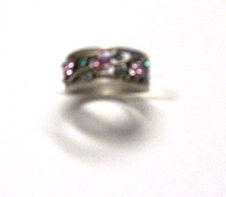 Genuine Crystal Ring Rings Silver Sz 7