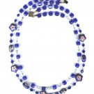 Dark Blue Cloisonne necklace