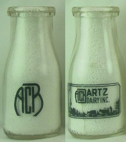 A. C. BRATZ DAIRY INC. Milk Bottle Pyr Rd HP  p224read FAQ � Milk Bottles � more .