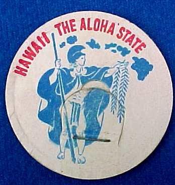 Hawaii the Aloha state, MILK BOTTLE CAPS, State Cap sp4-read FAQ more .. . .