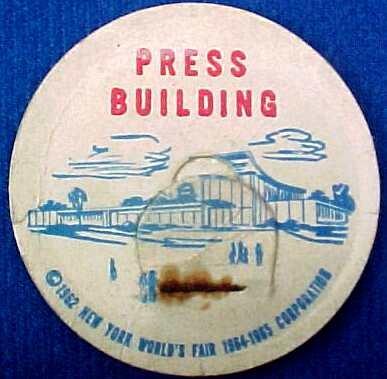 PRESS BUILDING NEW YORK WORLD�S FAIR MILK BOTTLE CAP sp7-read FAQ more .. . .