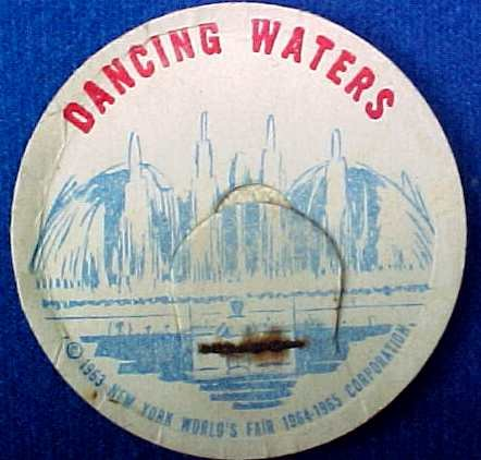 DANCING WATERS NEW YORK WORLD�S FAIR MILK BOTTLE CAP sp12-read FAQ more