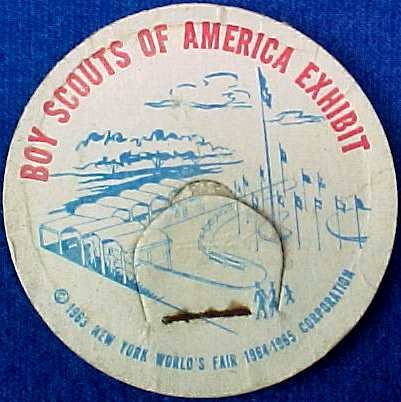 BOY SCOUTS OF AMERICA EXHIBIT NEW YORK WORLD�S FAIR MILK BOTTLE CAPA rare sp16-read FAQ more