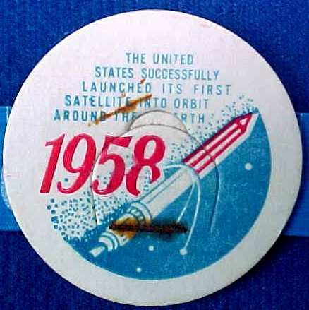 US FIRST SATELLITE AROUND EARTH, 1958 rare HISTORICAL MILK BOTTLE CAPS sp22-read FAQ more .