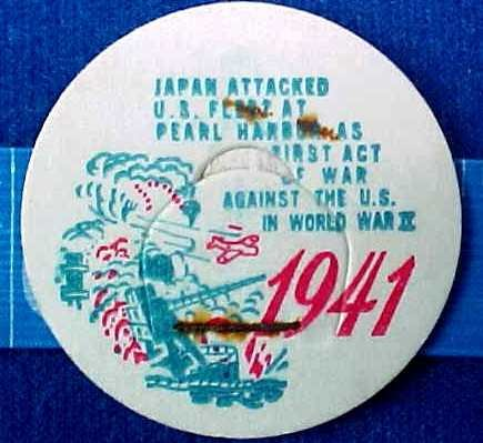 JAPAN ATTACKS PEARL HARBOR 1941 HISTORICAL MILK BOTTLE CAPS sp17b-Quantities Available read on