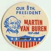 MARTIN VAN BUREN 8th PRESIDENT MILK BOTTLE CAPS Historical p8L read more . . . .