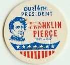 Franklin Pierce 14th PRESIDENT MILK BOTTLE CAPS pLs14S Quantities Available read more . . . .